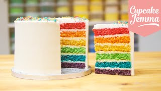 Download How to make the Best Ever Rainbow Cake | Cupcake Jemma Video