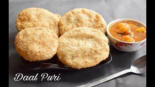 Download Daal Puri Recipe (Bengali Style)   Chana Dal Puri   Indian Gram Lentils Stuffed Puri Recipe #558 Video