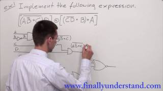 Download Digital Logic - implementing a logic circuit from a Boolean expression. Video