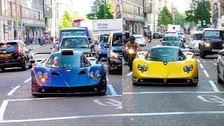 Download Guy brings out $6.5Million worth of Pagani Zondas into central London! Video