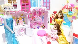 Download Barbie Disney Princess Baby doll and Ambulance hospital car toys doctor play Video
