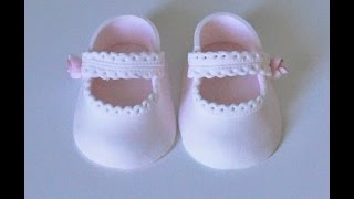 Download Cake decorating tutorials | how to make fondant baby lace shoes | Sugarella Sweets Video