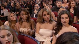 Download Fifth Harmony Watching Ex-Member Camila Cabello Perform ″Crying In The Club″ Video