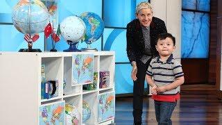 Download 3-Year-Old Globe Expert Noah Ascano Impresses Ellen Video