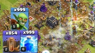 Download Latihan War COC cuma pake Goblin sama Spell, Wekwkwkwk Video