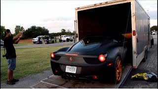 Download Rolling with a modified Ferrari & Marco's widebody 370z to a car show! Video