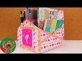 Download 创意手工 灵感设计 DIY 自制书桌纸盒超大容量收纳筒盒子整理 Video