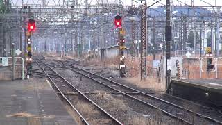 Download 東北本線 黒磯駅 下り普通向けE531系回送到着 電源信号切換り 2017.12.31 Video