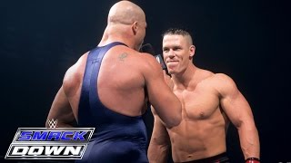 Download A debuting John Cena accepts Kurt Angle's open challenge: SmackDown, June 27, 2002 Video