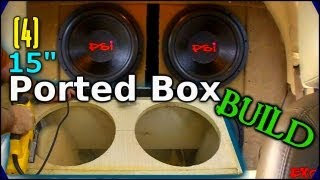 Download Building a Ported Subwoofer Box | How to Build 4 15″ Sub Enclosure w/ Carpet || Car Audio Tutorial Video