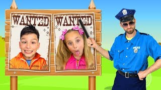 Download Sasha plays as a Policeman and Investigates mysterious stories with Toys Video