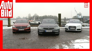 Download BMW 530d vs Mercedes E 350 d vs Audi A6 (2017) - Der Dienstwagen-Dreikampf - Review/Test Video