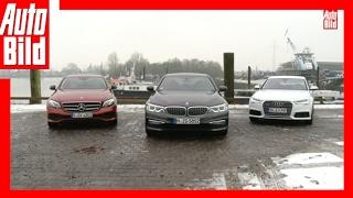 Download BMW 530d vs Mercedes E 350 d vs Audi A6 (2017) - Der Dienstwagen-Dreikampf - Review/Test Video