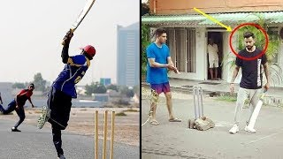 Download Cricketers Playing Street Cricket Compilation | Virat Kohli, Ms Dhoni, Shahid Afridi Video