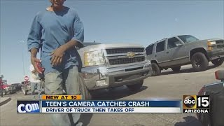 Download Teen's camera catches hit-and-run crash Video