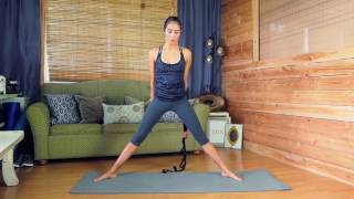 Download Yoga EVO Stretching Strap with loops Flexibility Video