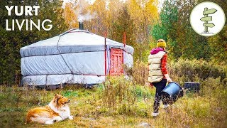 Download Woman Living Fully Off-Grid for 2 Years in a Tiny Yurt Video