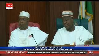 Download 2019 Budget Presentation Buhari Addresses Joint Session Of NASS Pt.1 |Live Event| Video