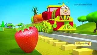 Download हम्प्टी ट्रैन और उसके फल दोस्तों से मिलिए | Humpty train on a fruits ride | hindi | kiddiestv hindi Video