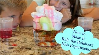 Download How To Make it Rain the Rainbow!! Kids Experiment!! Video