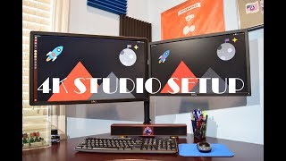 Download 2017 Studio Desk Setup: 4K Monitor, Docking Station, Recording Equiptment Video