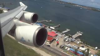 Download KLM Boeing 747-400 ″Rocket″ Takeoff St Maarten Princess Juliana Airport Video