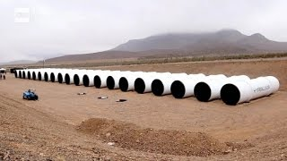 Download We saw the first Hyperloop tubes in the desert Video