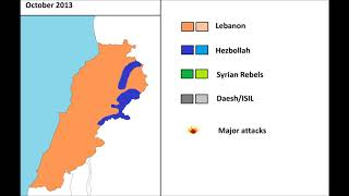 Download The Spillover of the Syrian war in Lebanon, every month Video