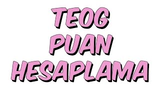 Download TEOG PUAN HESAPLAMA Video