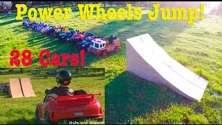 Download Ultimate Power Wheels Jump - 27 Cars! Promo! | Gabe and Garrett Video