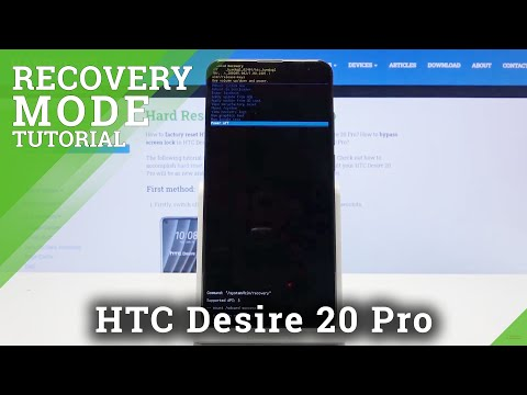 How to Boot into Recovery Mode in HTC Desire 20 Pro – Enter & Exit Recovery Menu