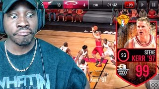 Download 99 OVR FINALS STEVE KERR IS UNBELIEVABLE! NBA Live Mobile 16 Gameplay Ep. 124 Video