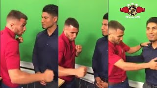 Download CLASSIC MEETING! LOMACHENKO CRITIQUES MIKEY GARCIA FACE TO FACE!! Video