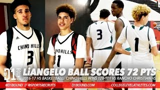 Download LiAngelo Ball: 72 POINT Performance (Chino Hills) UCLA Commit Scored 56 Night Before Video
