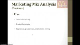 Download Marketing Strategy Analysis for McDonald's Video