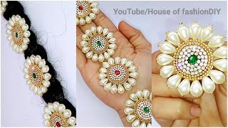 Download How To Make Bridal Hair Accessories Using Pearls//Jada Billalu At Home..! Video