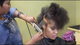 Download Review: Natural to straight, pressed hair using Camille Rose products Video