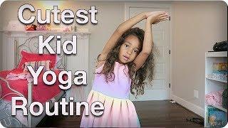 Download Cutest Kid Yoga Routine Video