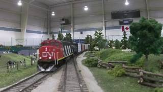 Download Running the Multi-club Freemo HO model train layout at Salmon Arm in 2016 Video