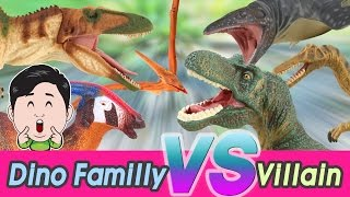 Download Dino familly vs Villains Full version 1~5, Cocostoy with Collecta figures [cocostoy] Video