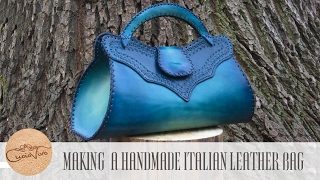 Download Making a handmade italian Leather Bag - Baueltto Cielo - CuoioVivo Video