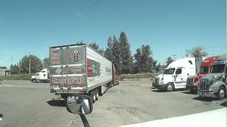 Download How not to exit the truckstop. Massive failure by this driver. Video