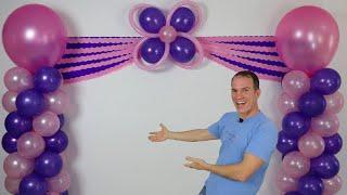 Download decoracion de cumpleaños - decoracion con globos - cortinas de papel crepe y columnas de globos Video