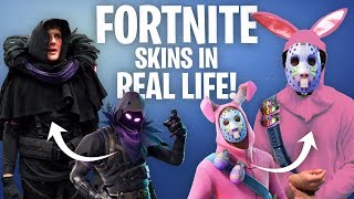Download RECREATING FORTNITE SKINS IN REAL LIFE!! **challenge** Video