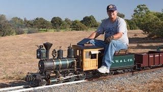 Download Firing up the Allen Models Fitchburg Northern Live Steam Locomotive Video