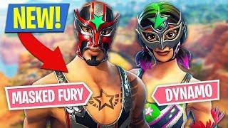 Download Fortnite *NEW* Masked Fury & Dynamo Skins!! (Fortnite Battle Royale) Video