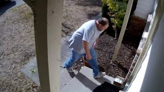 Download Homeowner Gets Revenge on Man Trying to Steal Package from Porch Video