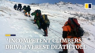Download 'Incompetent climbers' drive Everest death toll Video