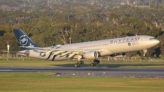 Download GLOWING China Southern SKYTEAM A330 Landing at Melbourne Airport Video