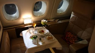 Download Etihad First Class (Apartments) - Abu Dhabi to London Heathrow (EY 19) - Airbus A380-800 Video